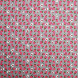 Tissu coton imprimé Oeko-Tex Strawberry