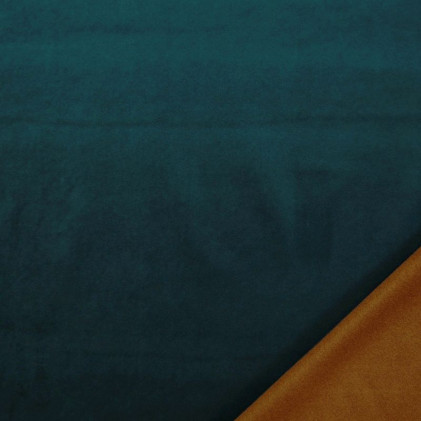 Tissu velours occultant réversible Citizen  Bleu canard