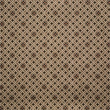 Tissu coton imprimé Oeko-Tex Arny Marron