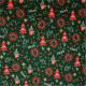 Tissu coton Noël Sapins Vert / Rouge