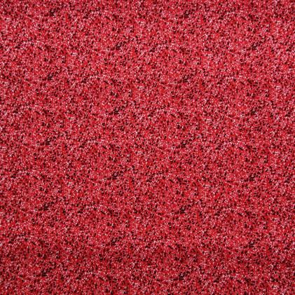 Tissu coton imprimé Pointillés Rouge