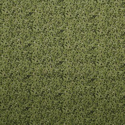 Tissu coton imprimé Pointillés Vert