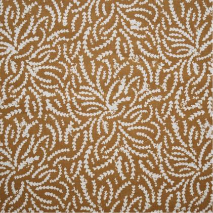 Tissu coton imprimé Oeko-Tex Rewa Ocre
