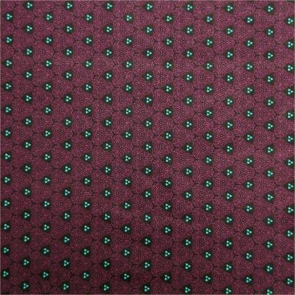 Tissu coton imprimé Kauaï Violet / Vert