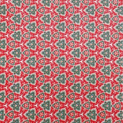 Tissu coton imprimé Lanai Rouge