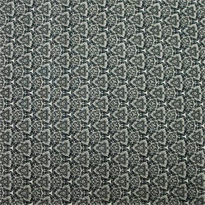 Tissu coton imprimé Lanai Noir