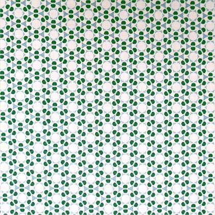 Tissu coton imprimé Mauï Vert
