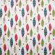 Tissu coton imprimé Plumettes Vert / Rouge