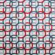 Tissu imprimé Canvas Rouge / Bleu