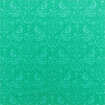 Tissu coton imprimé Waxini Bleu turquoise