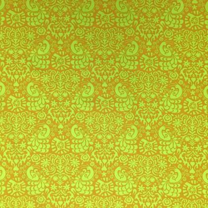 Tissu coton imprimé Waxini Vert anis