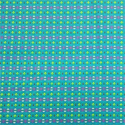 Tissu coton Maxina Bleu turquoise