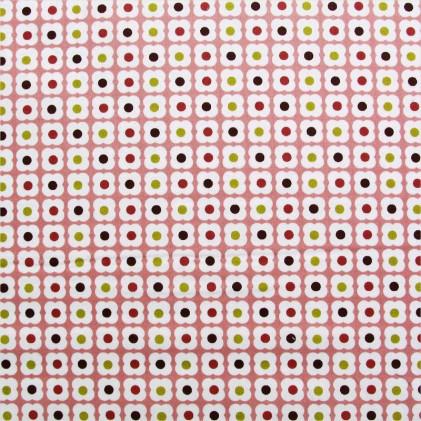 Tissu coton imprimé Sixties