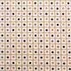 Tissu coton imprimé Sixties Jaune moutarde