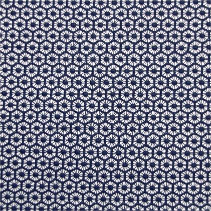 Tissu dentelle Exa Bleu marine