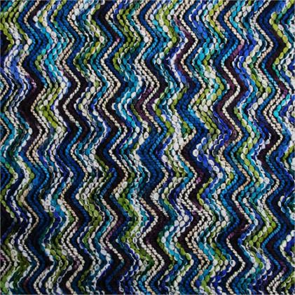 Tissu lainage Myla Bleu / Vert