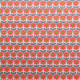 Tissu coton imprimé Vint Rose / Gris