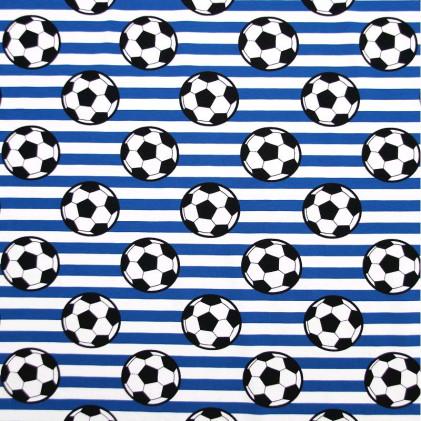 Tissu jersey Football Blanc / Bleu