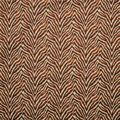 Tissu coton imprimé Oeko-Tex Zebra Marron