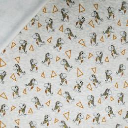Tissu jogging molleton Dino