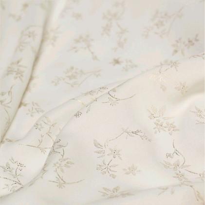 Tissu imprimé Fleurettes Blanc