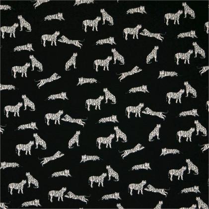 Tissu imprimé Tiger Noir