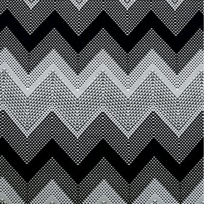 Tissu jersey Zigzag Noir