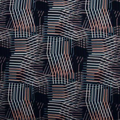 Tissu jersey Traty Noir