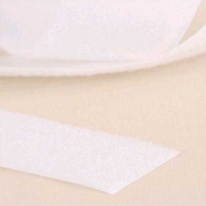 Velours auto-agrippant à coudre 50 mm Blanc