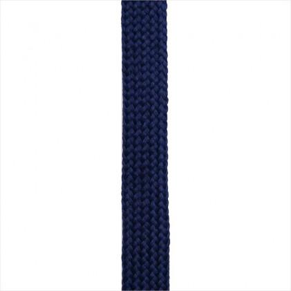 Cordon plat tressé 18 mm Bleu marine