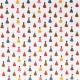 Tissu coton imprimé Party Hat Blanc / Couleurs