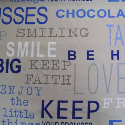 Tissu imprimé Smile Bleu