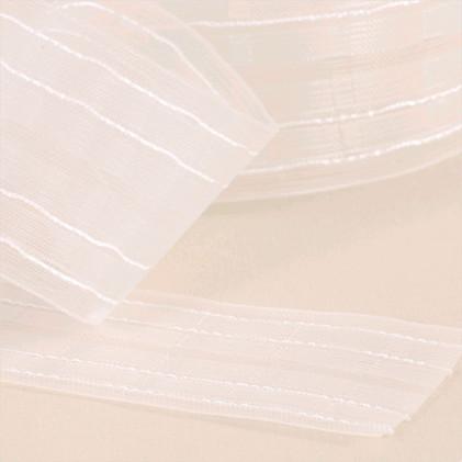 Ruban à plis ampli fixe à 2 Transparent