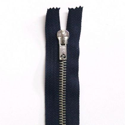 Fermeture Eclair métallique non séparable 15 cm Bleu marine
