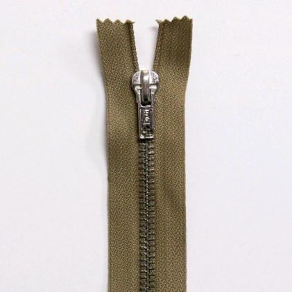 Fermeture Eclair métallique non séparable 15 cm Beige foncé
