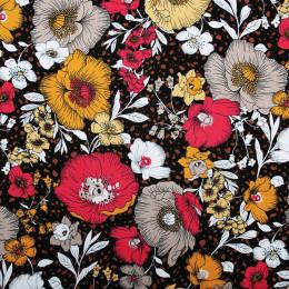 Tissu rayonne imprimé Florus Terracotta