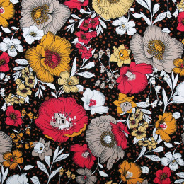 Tissu rayonne imprimé Florus