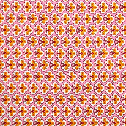 Tissu imprimé Fleurisse Rose