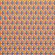 Tissu imprimé Fleurisse Orange