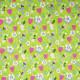 Tissu coton imprimé Oeko-Tex Strawberries Tree Vert anis