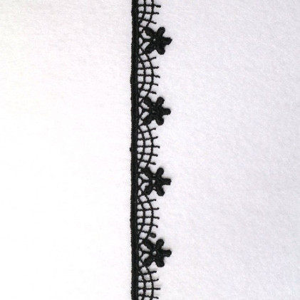 Guipure Fleurs Noir
