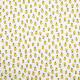 Tissu coton imprimé Oeko-Tex Lemon Blanc / Jaune
