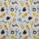 Tissu jersey Oeko-Tex Rigolino Gris / Multicolore