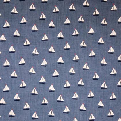 Tissu chambray Bato Bleu Jean's