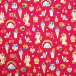 Tissu jersey œko-tex imprimé Unicorne