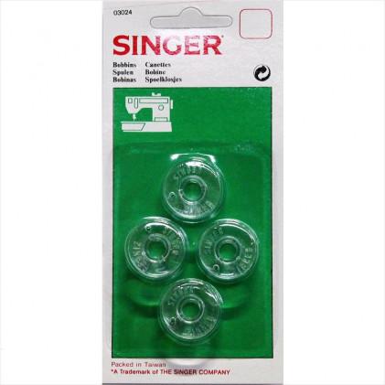 Canettes hautes SINGER Transparent