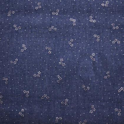 Tissu jean's chambray Flowy Bleu Jean's