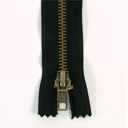 Fermeture pantalon métal séparable 35 Noir