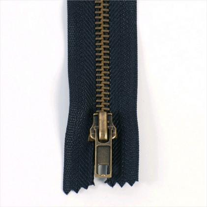 Fermeture pantalon métal séparable 30 Bleu marine