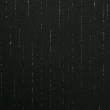 Tissu à rayures pailleté Sparkling Noir